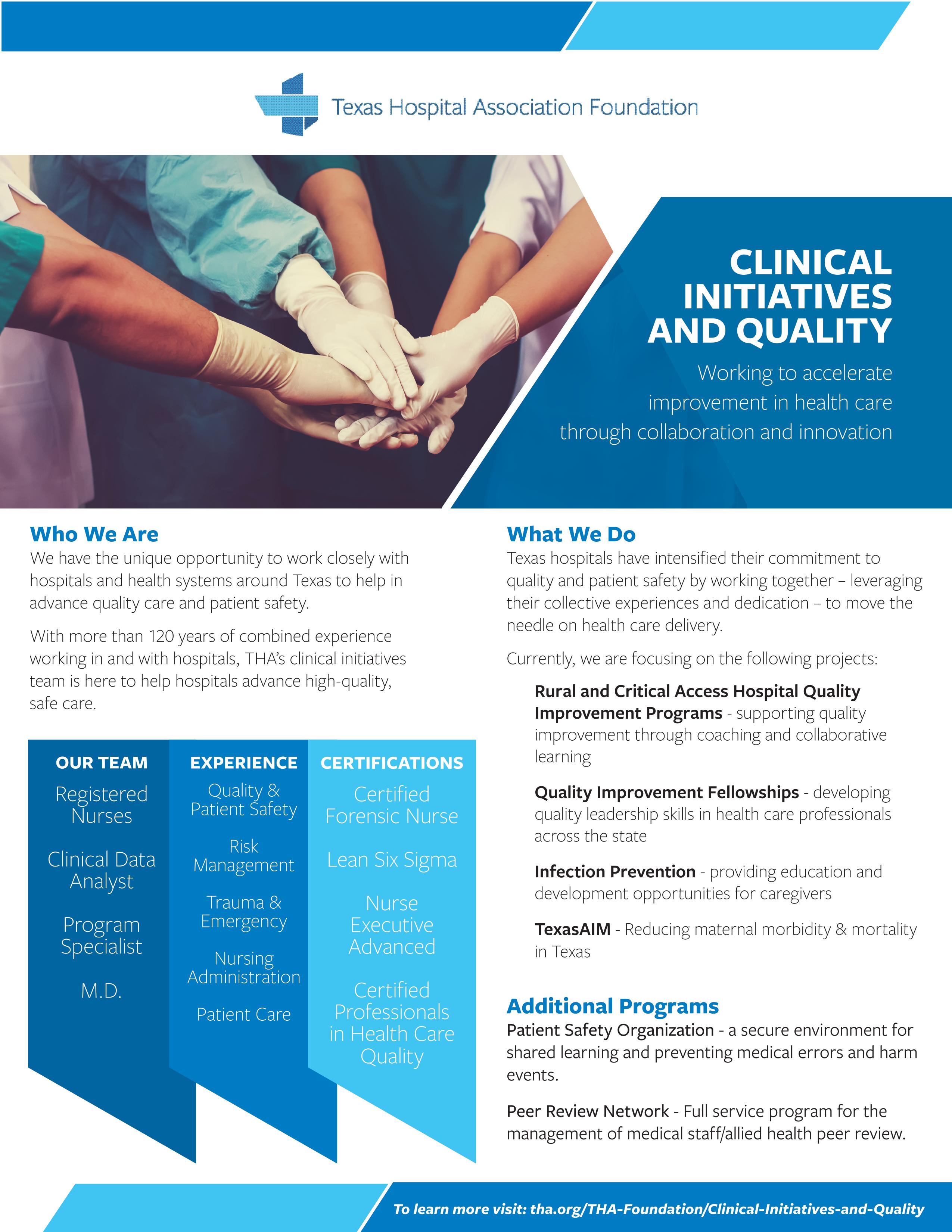 Clinical Initiatives Team Flyer_2021637643822541641985