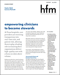hfm magazine, Empowering Clinicians to Become Stewards