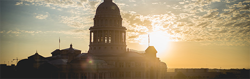 The Texas Capitol at sunrise
