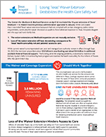 cover of the whitepaper Losing Texas' Waiver Extension Destabilizes the Health Care Safety Net