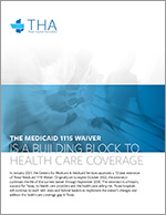 cover of document, Medicaid 1115 Waiver is a Building Block to Health Care Coverage