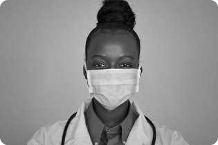 photo of a female African American medical student