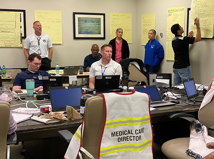 photo of the Incident Command Center at STVHCS