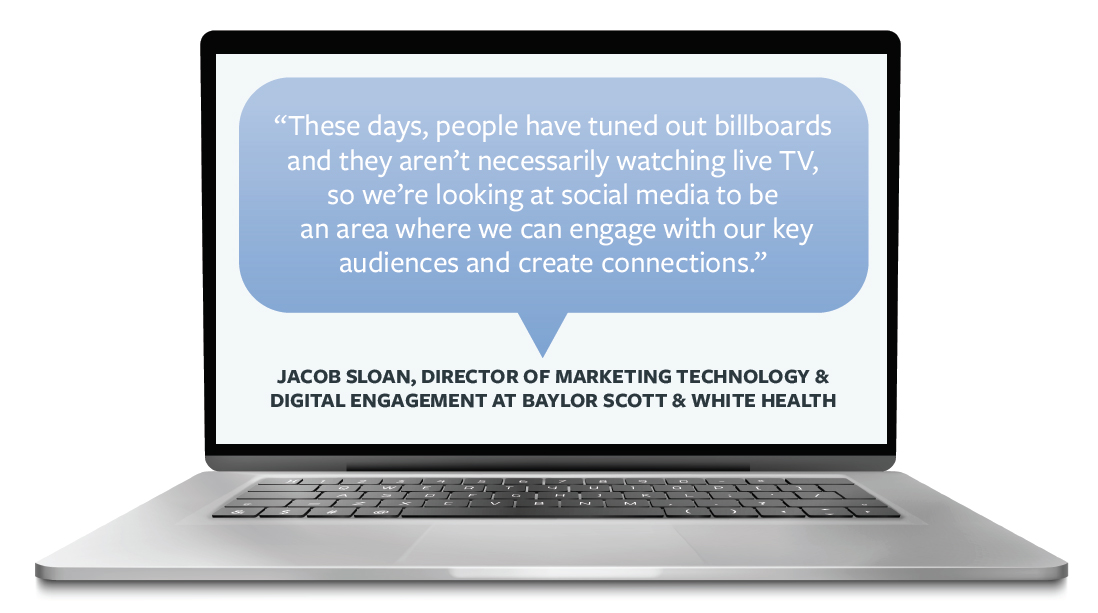 Quote by Jacob Sloan, These days, people have tuned out billboards and they aren't necessarily watching live TV, so we're looking at social media to be an area where we can engage with our key audiences and create connections