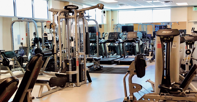 photo of a wellness center stocked with exercise equipment