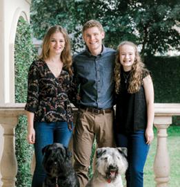 Marc Boom's children Kathryn, John and Janie