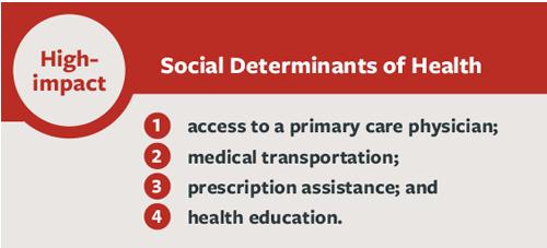 list of social determinants