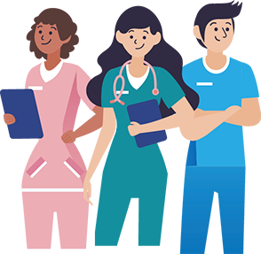illustrated medical staff