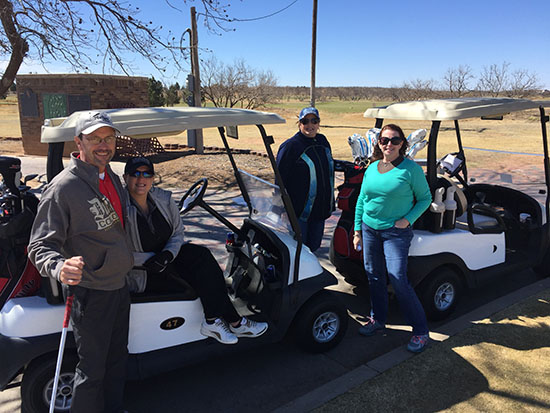 Golf day at Rawls Golf Course during the March 2017 Hot Topics Forum
