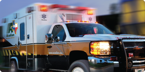 image of an ambulance in motion
